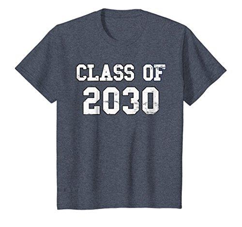 Kids CLASS OF 2030 Vintage KINDERGARTEN GRADUATION Kindie T-Shirt 8 Heather Blue -