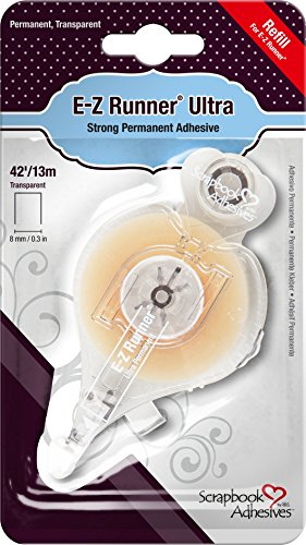 Scrapbook Adhesives by 3L double Sided E-Z Runner Ultra Strong Adhesive Refill, 42-feet