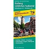 Radweg Liebliches Taubertal: Radwanderkarte mit Ausflugszielen, Einkehr- & Freizeittipps, wetterfest, reissfest, abwischbar, GPS-genau. 1:50000 (Radkarte / RK)