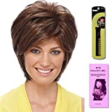 Renae by Estetica, Wig Galaxy Hair Loss Booklet & Magic Wig Styling Comb/Metal Pick Combo (Bundle - 3 Items), Color Chosen: CKISSRT4