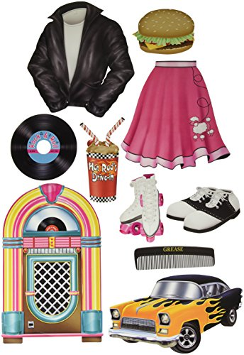50s Themed Decorations - 50's Cutouts