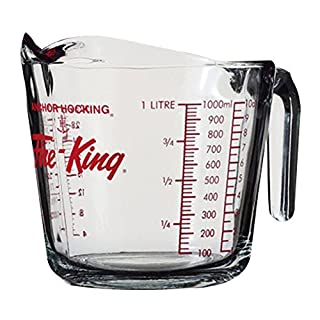 Anchor Hocking 77897 Fire-King Measuring Cup, Glass, 4-Cup