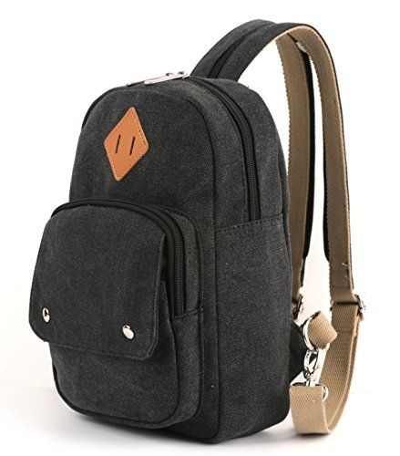 HITOP Lightweight Mini Backpack Cute Fashion Small Bag Daypack for Women (Black)
