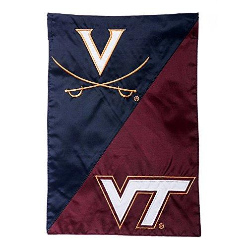 Evergreen NCAA Rival Schools House Divided Garden Flag (Virginia Tech vs. Virginia)