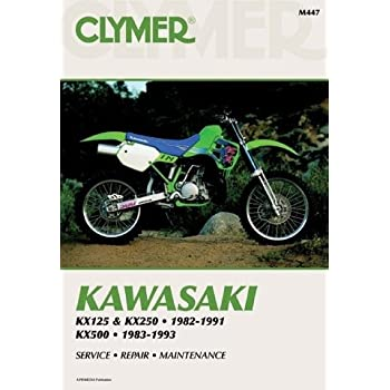 amazon com clymer repair manual for kawasaki kx125 kx250 kx500 82 rh amazon com 1980 KX 250 1984 Honda CR250