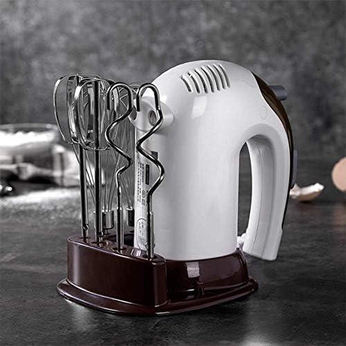 Elektrische handmixer 5 versnellingen mixer keukenmixer cake bakken mini-eierracket levensmiddelcrème - 2 x rackets 2 x kneedhaken