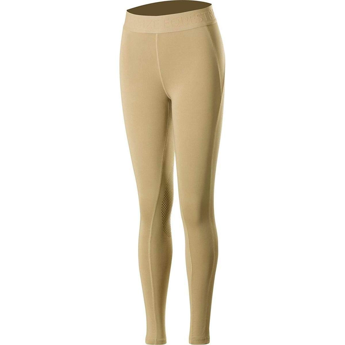 HORZE Elsa Kids Silicone Knee Patch Tights - Tan - X Small