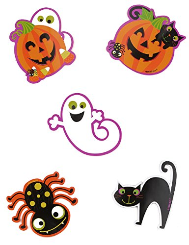 Pack Of 10 Halloween Themed Mini Cutouts
