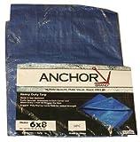 Multiple Use Tarpaulins, 20 ft Long, 20 ft Wide, Polyethylene, Blue (3 Pack)