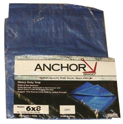 Multiple Use Tarpaulins, 20 ft Long, 12 ft Wide, Polyethylene, Blue (3 Pack)