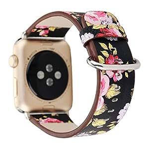 Amazon.com: YuKing Flower Design Strap for Apple Watch