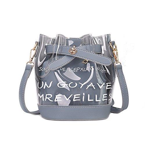 Cjshop Summer New Wave Female Small Bag Transparent Jelly Bag Korean Version Of The Single Bag, Blue Blue