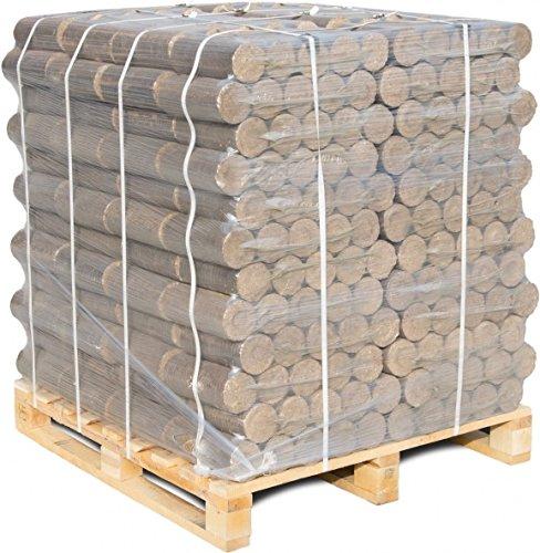 960 kg mumba® Buchenbriketts Eichenbriketts rund aus Buchenholz Eichenholz sauber auf Palette geliefert bis Bordsteinkante