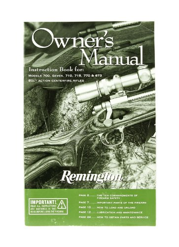 Remington Owner S Manual Instruction Book For Models 700