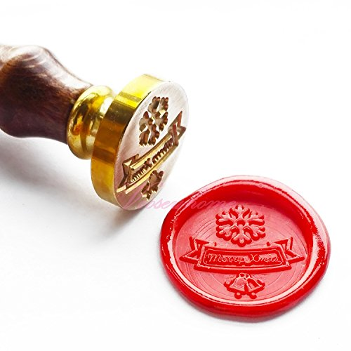 Price comparison product image Vooseyhome Merry Xmas Christmas Snowflake & Bells Wax Seal Stamp