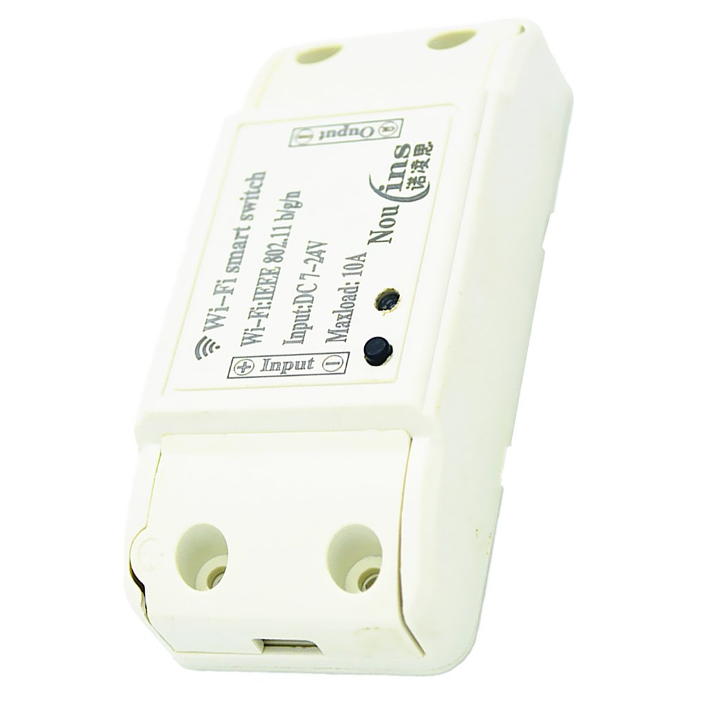 MagiDeal DC 12V Wireless Smart Switch Module ABS Shell Socket for Jog /Self-locking
