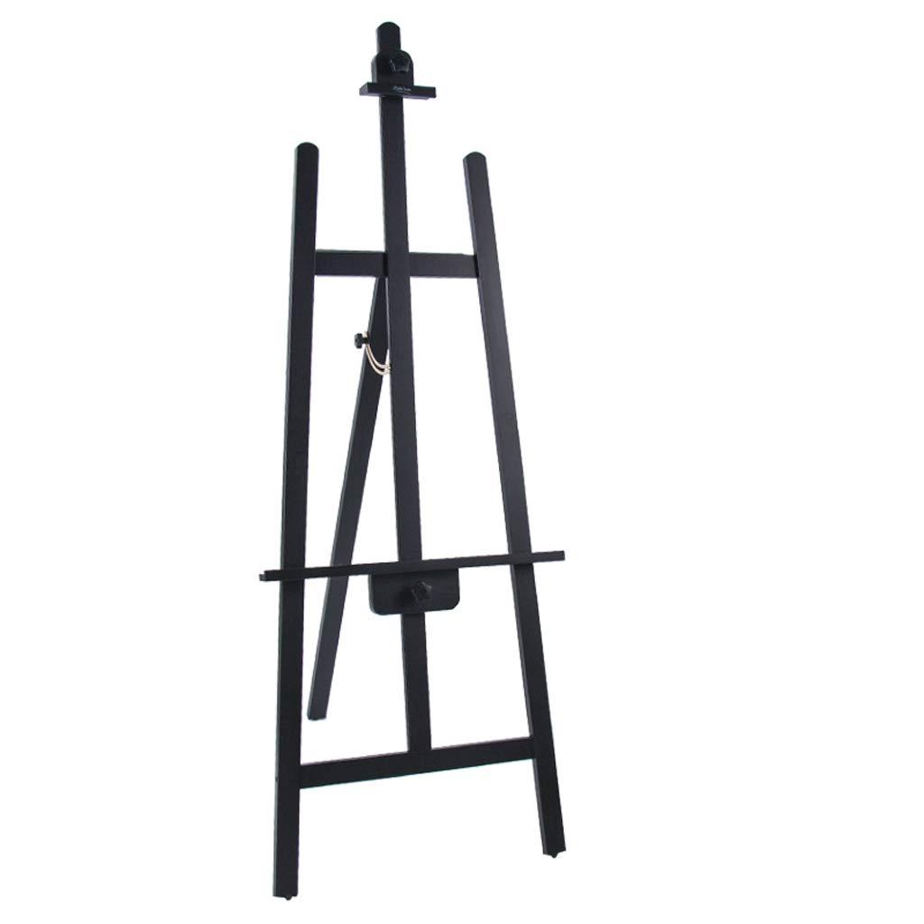 Cavalletto Staffa in legno Cavalletto da disegno triangolo supporto posteriore nero Cavalletto olio in legno Supporto per cartelloni pubblicitari (colore   A)