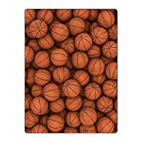 Gorgeous Flannel Basketball 60x80 inches Lightweight Polyester Throw Blanket Queen Bedding