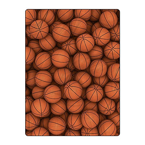 Gorgeous Flannel Basketball 60x80 inches Lightweight Polyester Throw Blanket Queen (Basketball Blanket)