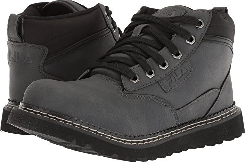 Fila Men's GRUNSON Fashion Boot, Castlerock/Black/Dark Silver, 10 Medium - Boots Fila Mens