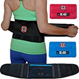 Old Bones Therapy Lower Back Brace Support Belt - Lumbar Support for Men and Women - Heat & Ice Pack Included for Back Pain Relief (XXL, Black, Fits > 40