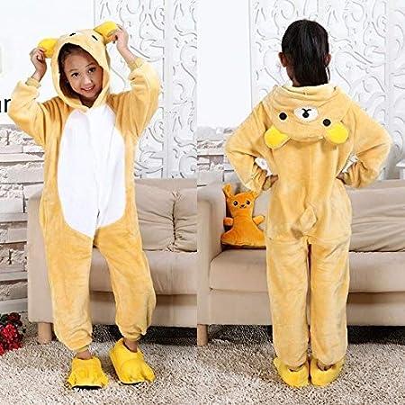 Pijama Unicornio Niños Invierno Mono Unicornio Pijamas Kigurumi Animales de la Jirafa Pijamas Niño Niña Onesies Cosplay Franela Puntada Onesie Ropa de ...