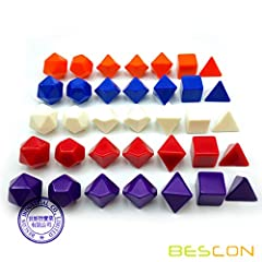 Flat and Blank: This artrist set contains 35pcs solid blank standard size polyhedral dice(16mm): total 5 sets, 7 dice each. Assoted colors of Red, Blue, Orange, Purple, Ivory; One set of each color. Your basic adventuring equipment's all here...