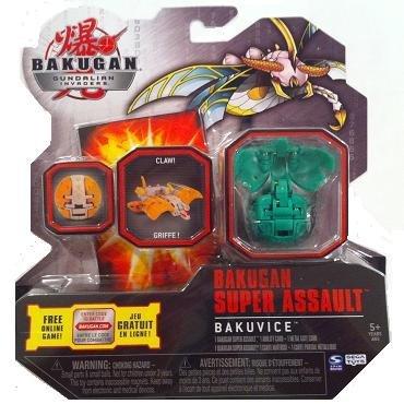 Bakugan Super Assault Gundalian Invaders Season 3 New Bakuvice (Green) Ventus LONGFLY w/DNA CODE (FACTORY SEALED)