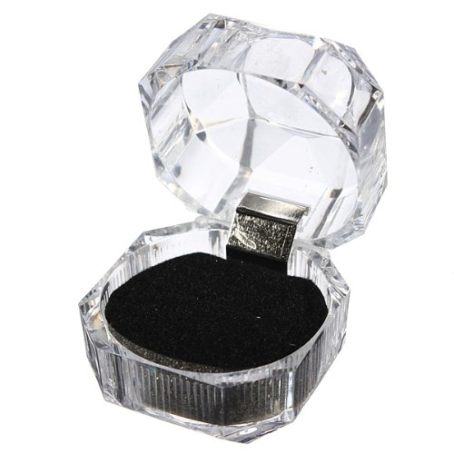 Acrylic Ring Earrings Jewelry Crystal Box Storage Gift Case Display Transparent Meco