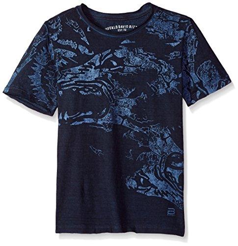 Buffalo by David Bitton Big Boys' Short Sleeve Graphic Tee Shirt, Dragon Whale, X-Large (18/20) (Buffalo Kids T-shirt)