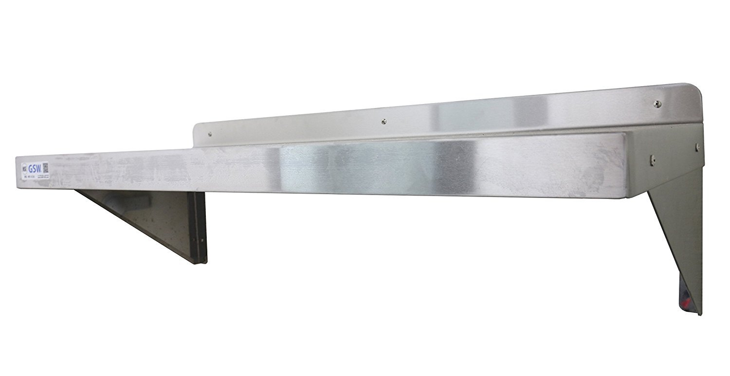 GSW Stainless Steel Commercial Wall Mount Shelf 12
