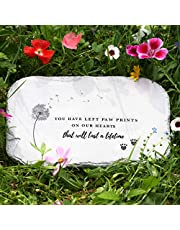 PetAngell Pet Memorial Stones, Pet Headstone, Pet Loss Gifts - Pet Grave Markers, Dog Headstones, Pet Memorial Gifts for The Garden or Home, 10.5 x 7 x 0.5 inches: Waterproof Resin Pet Stone for Dog
