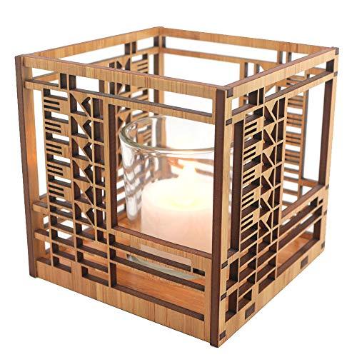 (Frank Lloyd Wright Bach House Design Hardwood Votive)