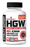Horny Goat Weed W/Maca Root & 20% Icariins | Highest Effective Dose Ever 45 Day Supply 90 Capsules - 100% USA Made and GMP Certified
