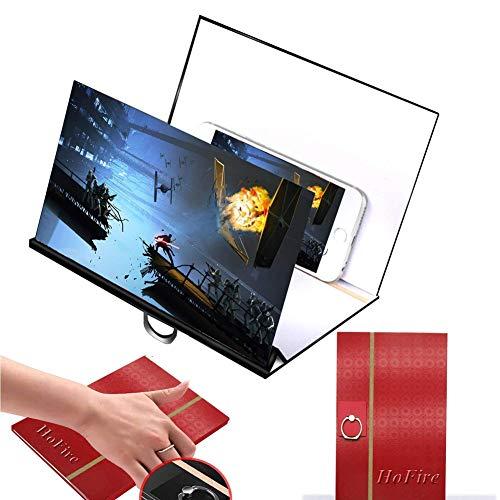 Gjzww Amplificador de Pantalla de Pantalla de teléfono móvil Amplificador de Video película HD con proyector Plegable para...