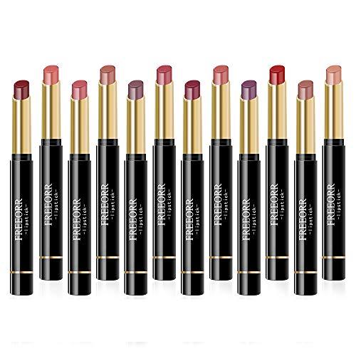 Ownest 12 Colors Matte Lipstick Set, Nude Moisturizing Smooth Waterproof Long Lasting Lips Makeup Set, Durable Velvet…