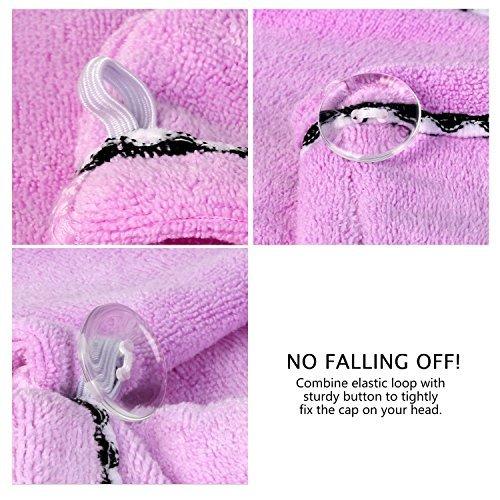2 Pzas Toallas para Secar Pelo de Microfibra Toalla Turbante Rápido Reducir el Tiempo de Secado para Usa en Ducha, Spa, Maquillaje (Azul+Púrpura) -Duomishu: ...