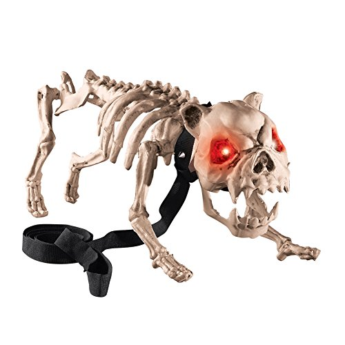 Collections Etc Barking Skeleton Dog Halloween Decoration