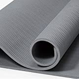 HLM- Eco Friendly Yoga Mat with Alignment Lines, Free Carry Strap, Non Slip TPE Yoga Mat for All Types of Yoga, Extra Large Exercise and Fitness Mat