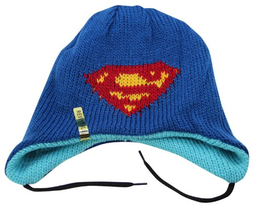 DC Superman Logo Reversible Beanie Hat Blue]()