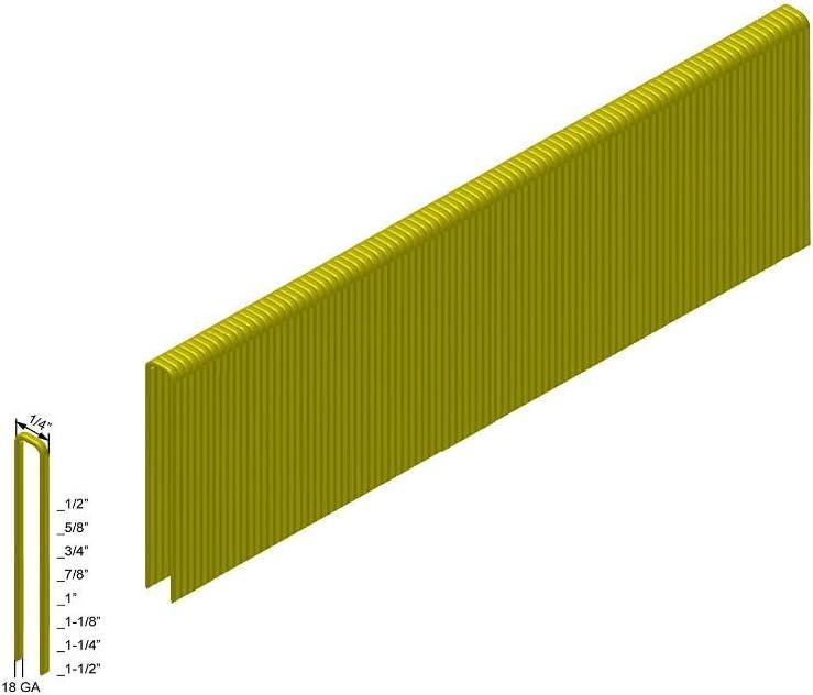 640 Boxes 5,000-Pack Senco L Style Staples Pallet of PREBENA 18GA 1//4 Crown x 3//4 Length Galv
