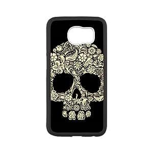 Custom Day of the Dead Sugar Skull Pattern Plastic Hard Case for Samsung Galaxy S6