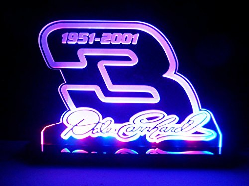 Dale Jr Halloween Costumes (Dale Earnhardt Sr 3 Signature Nascar LED Lamp Night Light Signs)