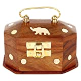 Artshai small designer Box for small jewellery, ring box, made from sheesham wood