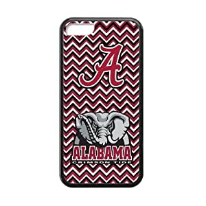 MMZ DIY PHONE CASEHoomin NCAA Alabama Crimson Red Chevron Design ipod touch 5 Cell Phone Cases Cover Popular Gifts(Laster Technology)