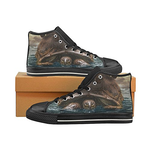 D-story Custom Tartaruga Sul Mare Mens Classic High Top Scarpe Di Tela Moda Sneaker