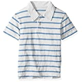 The Children's Place Big Boys' Thin Stripe Polo Shirt, Simplywht, S (5/6)