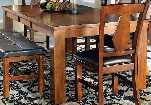 Steve silver company lakewood table with 18 leaf 42 x for Dining room table 42 x 60