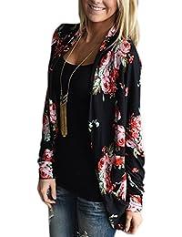 Womens Kimono Cardigans Floral Chiffon Blouse Boho Irregular Wrap Kimono Cardigans Casual Coverup Tops S-3XL