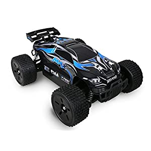 Holy Stone 007 Remote Control Car High Speed Off-Road RC Racing Truck 1/16 2.4G 4WD RTR Includes Bonus Battery, Color Blue